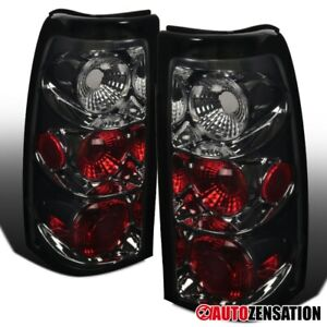 For 2003 2006 Chevy Silverado 1500 2500 Smoke Lens Tail Lights Brake Lamps Pair
