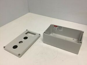 Hoffman Q 20129pcd Plastic Pushbutton Enclosure Box 200 X 120 X 85mm holes
