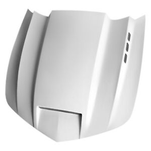 For Chevy Camaro 10 13 Sms Style Functional Ram Air Fiberglass Hood Unpainted