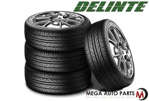 4 Staggered Delinte Thunder D7 Performance Tires 245 35zr20 95w 275 30zr20 97w