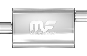 Magnaflow 4x9 18 Oval Straight Through Muffler 2 25 In Out Offset Offset 11265