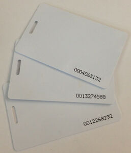 25 Rfid Proximity Badge Cards For Acroprint Timeqplus Tq600p And Tq600f