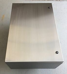 Wiegmann N412362412ssc Wall Mounted Stainless Steel Enclosure 36x24x12 New