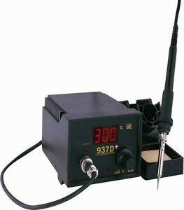 Soldering Iron Station With Extra Heating Element 5 Tips 937d
