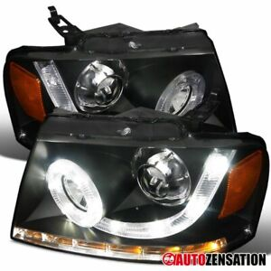 04 08 F150 06 08 Mark Lt Black Halo Smd Led Signal Projector Headlights