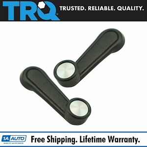 Manual Window Crank Handle Black With Chrome Center Lh Rh Pair For Toyota New
