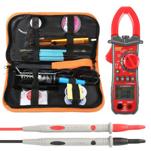 60w Electric Temperature Adjustable Welding Soldering Solder Iron Kit Multimeter