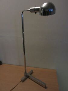 Mid Century Adjustable Castella Lighting Chrome Floor Lamp Cedric Hartman Style