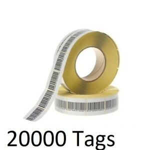 20000 Pcs Eas Checkpoint Barcode Soft Label Tag 8 2 4 X 4 Cm 1 57 X 1 57 Inch