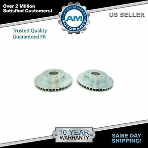 Nakamoto Front Performance Cross Drilled Slotted Zinc Coated Brake Rotor Pair