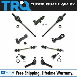 Trq 11 Piece Steering Suspension Kit Ball Joints Tie Rods Pitman Idler Arms