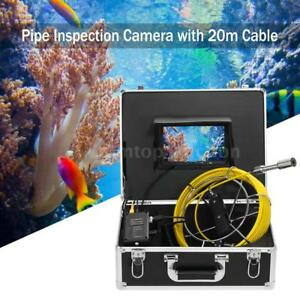 7 Lcd Monitor Sewer Inspection Snake Camera Industrial Endoscope Borescope Q4u7