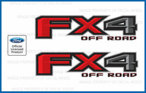 Set Of 2 2017 Ford F250 F350 Fx4 Off Road Decals F Offroad Stickers Bed Side