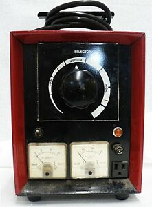 Vintage Television Amperes And Volts Meter Tester
