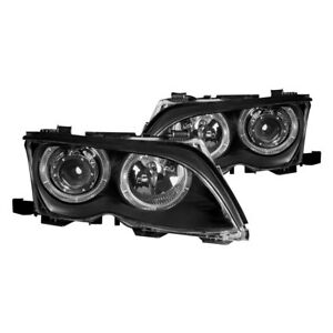 For Bmw 325xi 2002 2005 Anzo 121140 Black Led Halo Projector Headlights