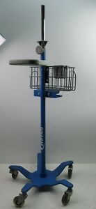 Dinamap Patient Monitor Stand Ge Pro Series 2033297 Medical Rolling Cart 5 Wheel