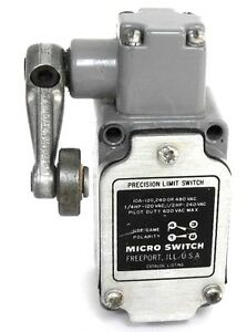 Micro Switch 1ls19 Limit Switch 10a 120 240 Or 480vac W Roller Lever