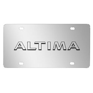 Ipick Image For Nissan Altima In 3d Chrome Stainless Steel License Plate