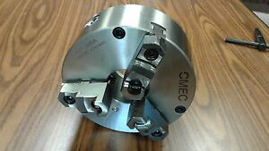 8 3 jaw Self centering Chucks Plain Back Front Mounting For Rotary Tables