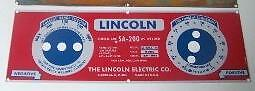 Lincoln Electric Arc Welder Blue Face 025 Aluminum Control Plate 8803