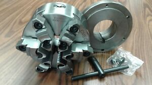 6 6 jaw Self centering Lathe Chuck W Top bottom Jaws W L0 Adapter new