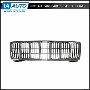 Chrome Black Front Grille 55156814ae New For 05 07 Jeep Grand Cherokee