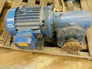 Elektrim 3hp Electric Motor With Morse Gear Reducer W159650