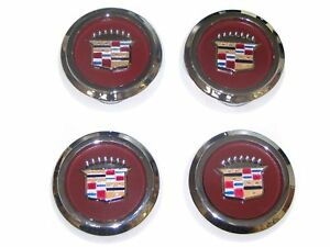 4pcs Chrome Wire Wheel Spoke Center Caps 1977 1996 Cadillac Rwd New Set