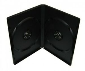 100 Premium Standard Black Double Dvd Cases 100 New Material