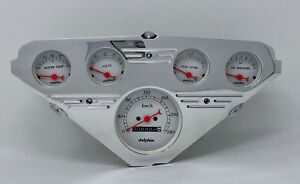 1955 1956 1957 1958 1959 Chevy Truck Gauge Dash Cluster Street Rod Metric White