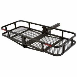 48 Folding Cargo Carrier Hitch Mounted Luggage Rack Basket