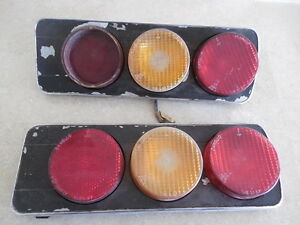 Ferrari 365 Gt 2 2 67 70 Tail Lights Pair Used
