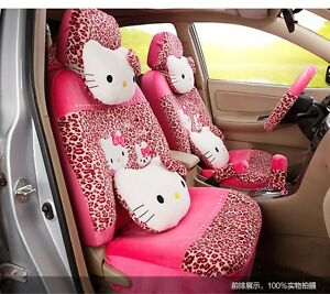 On Sale New Hello Kitty Car Seat Covers Cushion Accessories Set 18pcs