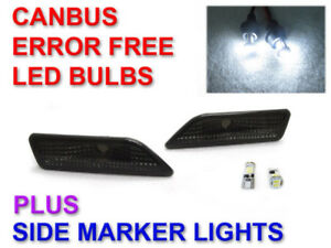 Smoke Bumper Side Markers Canbus Led Bulbs For 2006 2010 Mercedes W219 Cls550