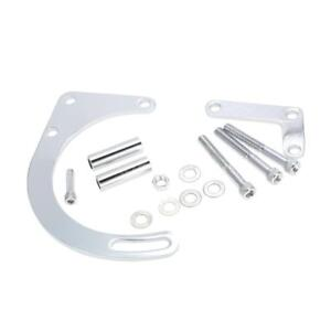 Sbc Chrome Low Mount Alternator Bracket For Chevy 350 Short Water Pump D3z9