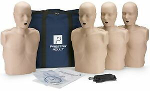 Prestan Adult Aed Cpr Manikins 4 Pack Medium Skin