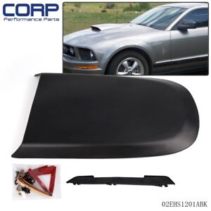 New Racing Hood Scoop Black For 2005 2009 Ford Mustang Gt V8