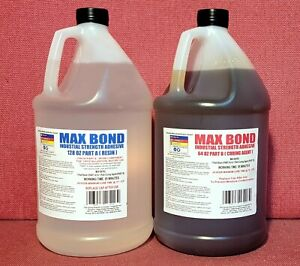 Epoxy Med Viscosity Industrial Glue 4 Metals Concrete Wood Marine Grade 2gal Mv
