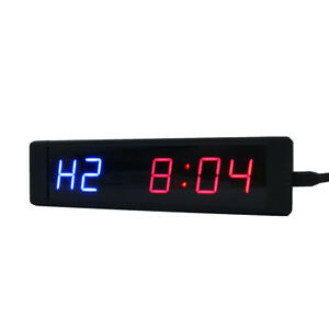 Programmable Led Crossfit Interval Timer Clock Tabata Fitness Training W remote