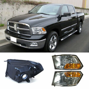 For Dodge Ram 1500 2009 2012 Car Front Bumper Composite Headlight Assembly Xenon