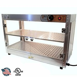 Heatmax Commercial 30 X 15 X 20 Countertop Food Pizza Pastry Warmer Wide Display