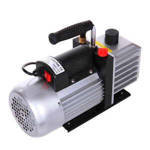 Single Stage 5cfm 1 3hp Rotary Vane Vacuum Pump Hvac Air Ac A c R410a R134a