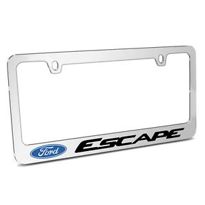 Ford Escape Mirror Chrome Metal License Plate Frame Made In Usa