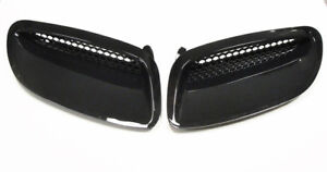 2005 2006 Pontiac Gto Hood Scoops Gloss Black New Reproduction Pair Lmp2245b