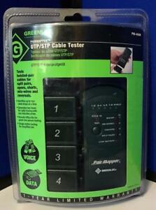 Greenlee Utp stp Cable Tester Pm 400k New sealed Pkg Wear Free Priority