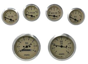 6 Gauge Tan Mechanical Speedometer Set Street Rod Hot Rod Universal