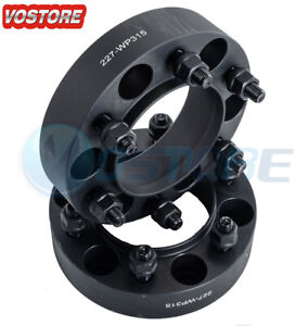 2x 1 5 6 Lug Black Hubcentric Wheel Spacers Adapters 6x5 5 For Chevy Silverado