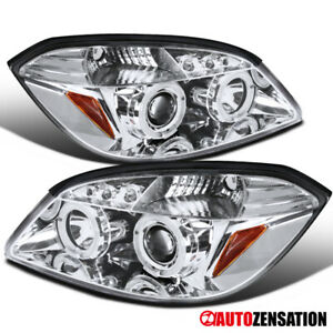 For 2005 2010 Chevy Cobalt 2007 2009 G5 Clear Led Dual Halo Projector Headlights