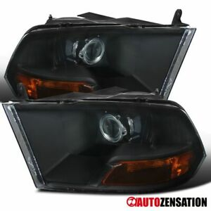 For 2009 2018 Dodge Ram1500 2010 2017 2500 3500 Black Projector Headlights Lamps