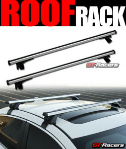 Universal 50 Silver Window Frame Roof Top Rail Rack Tube Cross Bars Carrier G8
